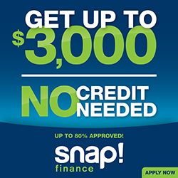Get up to $3,000 - NO CREDIT NEEDED!